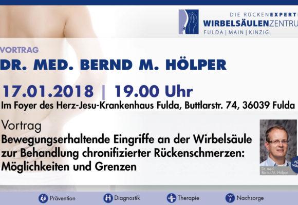 Ankündigung Vortrag Dr. med. B. Hölper