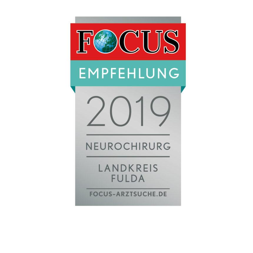 Auszeichnung mit dem Focus-Siegel in der Region Fulda